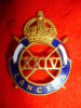 The 24th Lancers WW2 Officer's Stunning Git & Enamels Cap Badge - Scarce !