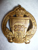 256th Bn (Railway Construction) Officer's Gilt Cap Badge, Roden Maker