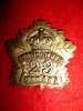 29th Vancouver Battalion (Tobin's Tigers) Officer's Gilt Cap Badge