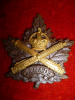 28-1a, Eaton's Motor Machine Gun Battery Cap Badge, Crossed Guns