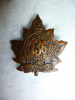 136th Battalion (Port Hope, Ontario) Collar Badge