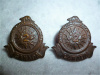 25-4, 2nd Divisional Cyclists Collar Badge Pair