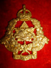 C25 - King's Canadian Hussars Officer's Gilt Cap Badge