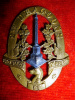 C6 - 2nd Dragoons Officer's Silver & Gilt Cap Badge