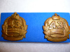43rd Infantry Battalion (The Hindmarsh Regiment) Collar Badge Pair