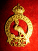 Uganda Protectorate Gilt Officer's Helmet Badge