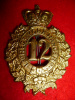 MM72 - 12th Bn (York Rangers) Glengarry Cap Badge, 1882