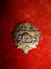 MM282 - 109th Regiment Officer's Sterling Silver Collar Badge