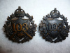MM-270, 103rd Regiment Calgary Rifles Collar Badge Pair