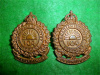 MM273, 104th REGIMENT, New Westminster, Cap / Collar Badge Pair