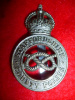 Staffordshire County Police KC Cap Badge