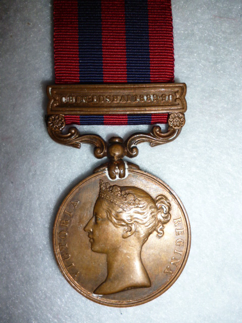 India General Service Medal 1854, Bronze issue, clasp Chin-Lushai 1889-90, to Boni C.T.D.