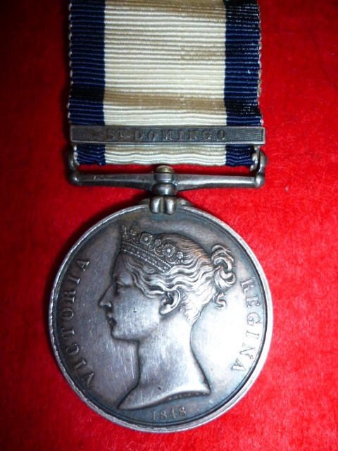 "Naval General Service Medal 1793-1840, (1) clasp ""St. Domingo"""