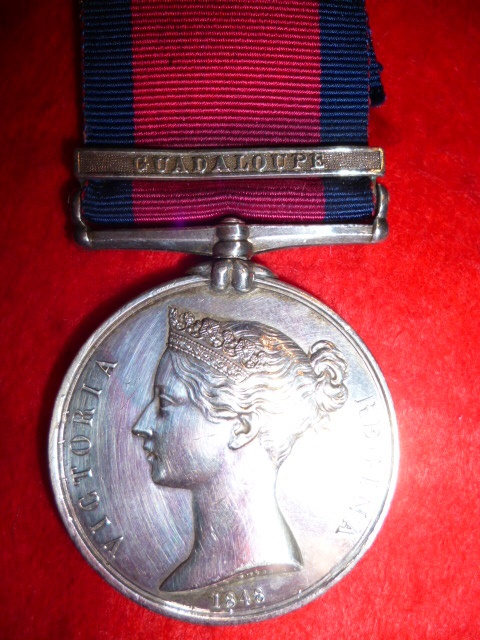 Military General Service Medal 1793-1814, (1) clasp, Guadaloupe to 15th Foot (East Yorkshire Regimen