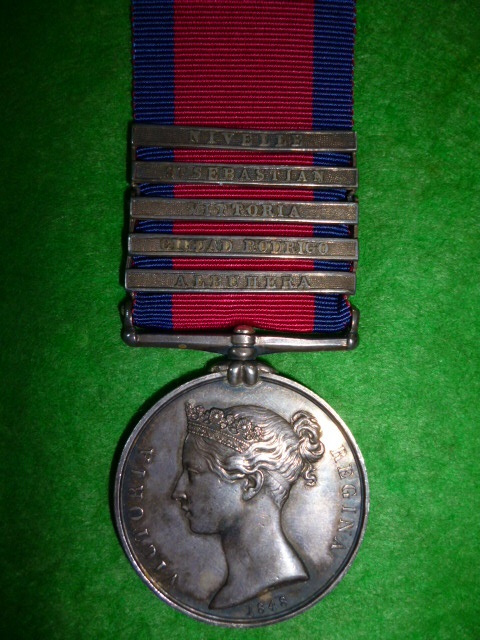 Military General Service Medal 1793-1814, (5) clasps to King's German Legion