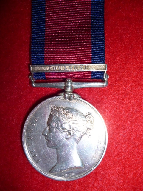 Military General Service Medal 1793-1814, (1) clasp,  Toulouse, to Quatermaster, Royal Horse Guards