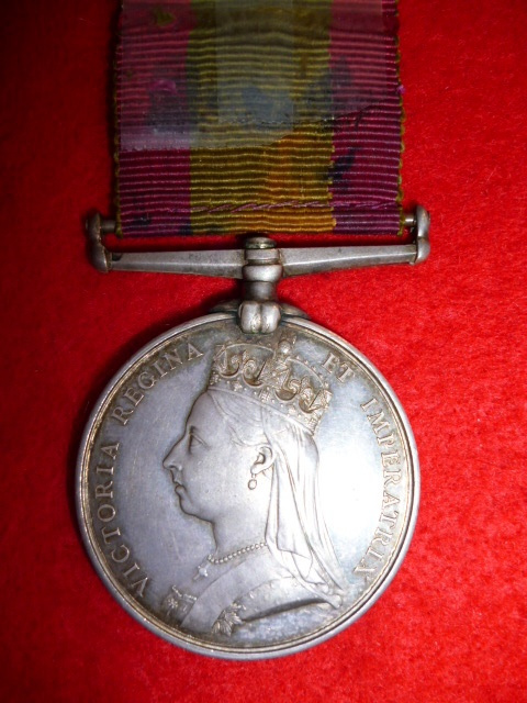 Afghanistan Medal 1878-1880, no bar to 85th Foot (King's Shropshire Light Infantry)