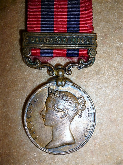 India General Service Medal 1854-95, 1 clasp, Waziristan 1894-5, Bronze to Bengal Transport Departme