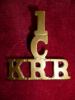 1/CADET/KRR Brass Shoulder Title Badge, Westlake 1299
