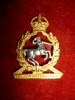 WW2 Royal Army Veterinary Corps Officer's Silver & Gilt Dress KC Collar Badge