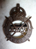 The 24th Lancers WW2 Officer's Bronze Cap Badge