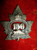 156th Bn (Brockville, Ontario) Voided Pattern Cap Badge