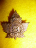 4-9, 9th Cdn. Mounted Rifles Officer's Collar Badge