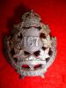 167th Battalion (Quebec City) Officer's Silver Cap Badge