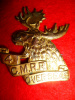 4-4a, 4th CMRR Canadian Mounted Rifles Officer's Gilt Cap Badge