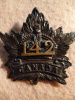 142a - 142nd Battalion (London, Ontario) Interim Cap Badge