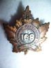 168th Battalion (Woodstock) Officer's Cap Badge
