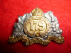 179th Battalion (Winnipeg) Officer's Silver & Gilt  Collar Badge