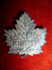 42-11, Canadian Military Headquaters Sterling Silver Cap Badge