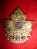 12-56, 56th Overseas Battery Officer's Gilt Cap Badge
