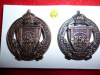 256th Battalion (Railway Construction) Collar Badge Pair, Roden Maker