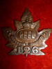 126th Battalion (Peel County) Cap Badge