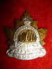 34-9, Winnipeg Forestry Corps Officer's Silvered Collar Badge