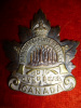 34-9, Winnipeg Forestry Corps Officer's Silvered Cap Badge