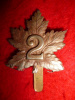 30th Battalion - E-30A (2nd British Columbia) Variant Cap Badge (no title)