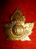 88th Battalion (Victoria Fusiliers) Gilt Officer's / NCO's Cap Badge
