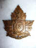 21-13, 13th Canadian Railway Troops Cap Badge, Service Supply Rochester Marked