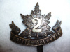 30th Battalion, 2nd British Columbia Officer's Cap Badge