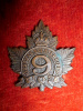 4-9, 9th Canadian Mounted Rifles Collar Badge