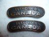 4-11, 11th Canadian Mounted Rifles Shoulder Title Pair