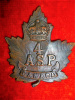 18-4, 4th Ammunition Sub-Park Cap Badge, Gaunt nameplate
