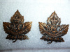 7-6, 6th Duke of Connaught's Own Overseas Infantry Draft Collar Badge Pair