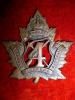 1-4, 4th Pioneers Battalion Voided Cap Badge, Birks Maker