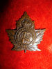 34-4, Canadian Forestry Corps Officer's Bronze Collar Badge, Gaunt Maker