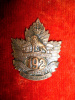192nd Battalion (Crowsnest Pass) Collar Badge