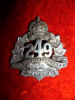 249th Battalion (Regina, Saskatchewan) Officer's Silver Collar Badge